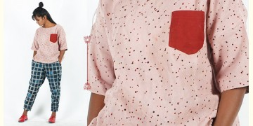 Rebirth in clay ⚘ Natural Dyed ⚘ Peach Polka Dots Top ⚘ 17