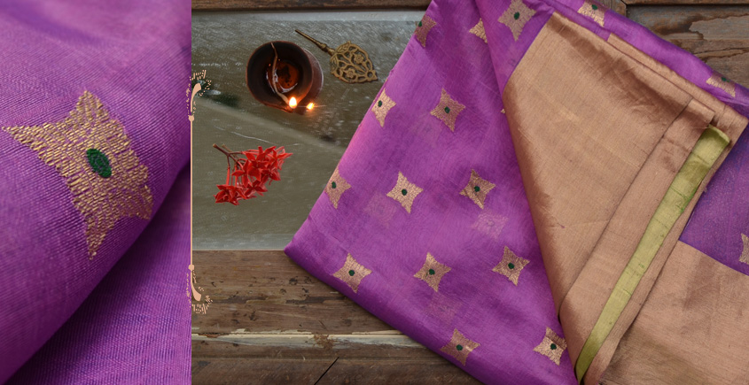 काशिका ⚛ Pranpur Mulberry Silk Saree ⚛ 18
