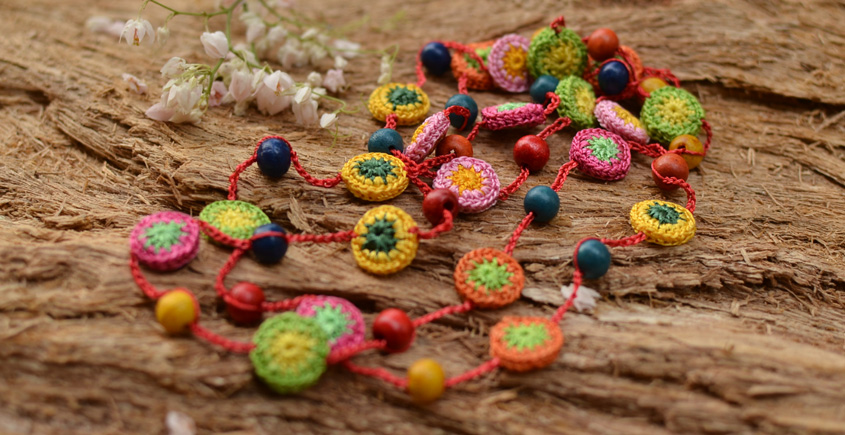 Samoolam ⚘ Crochet jewelry { Necklace } 46