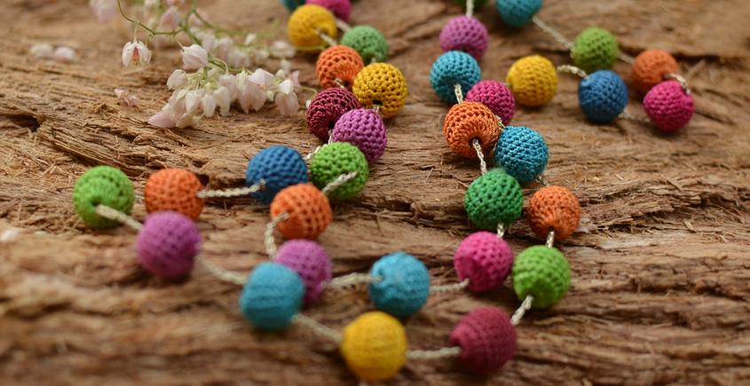 Samoolam ⚘ Crochet jewelry { Necklace } 48
