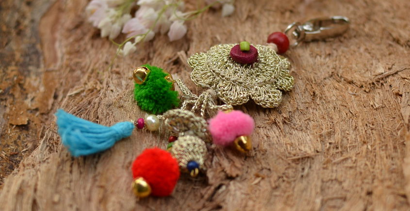 Samoolam ⚘ Crochet jewelry { Keychain } 05