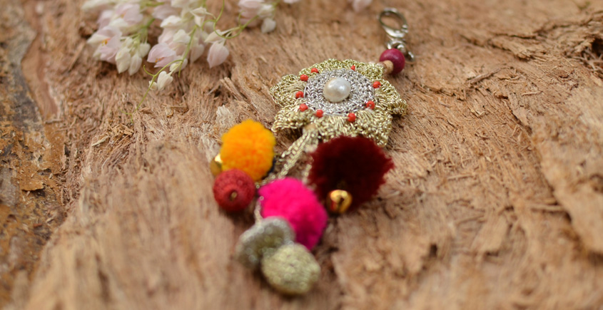 Samoolam ⚘ Crochet jewelry { Keychain } 08