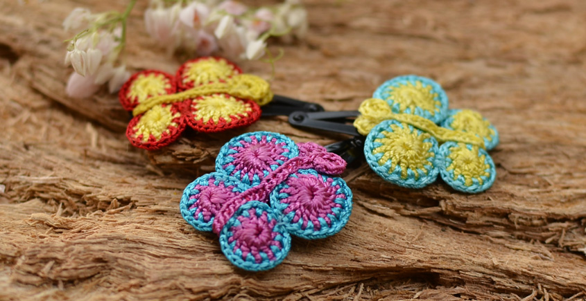 Samoolam ⚘ Crochet jewelry { Hair Clips } 29