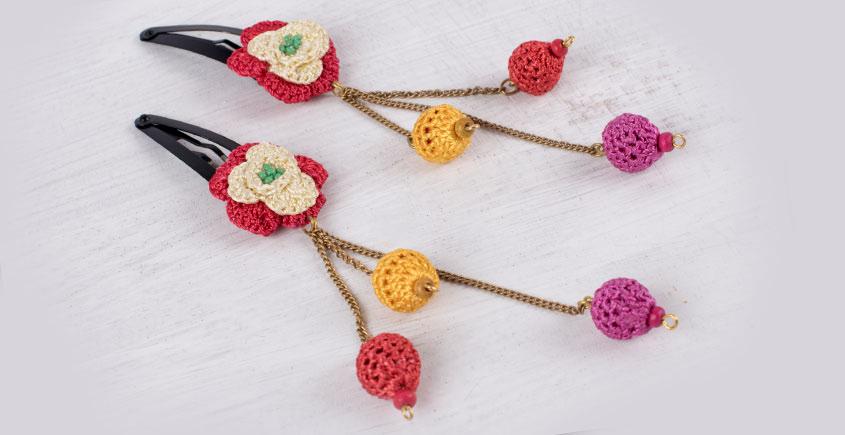 Samoolam ⚘ Crochet Accessories { Hairclip } ⚘ 8