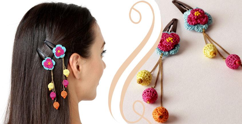 Samoolam ⚘ Crochet Accessories { Hairclip } ⚘ 2