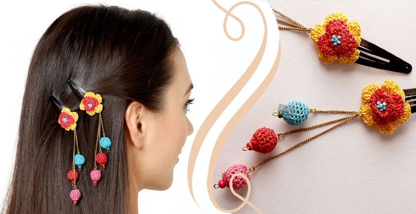 Samoolam ⚘ Crochet Accessories { Hairclip } ⚘ 3