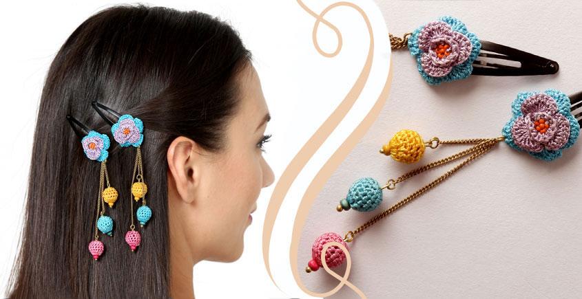 Samoolam ⚘ Crochet Accessories { Hairclip } ⚘ 1