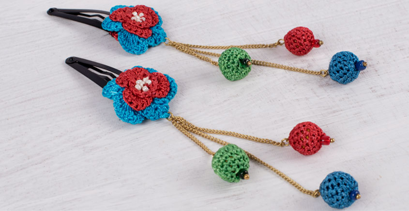 Samoolam ⚘ Crochet Accessories { Hairclip } ⚘ 9