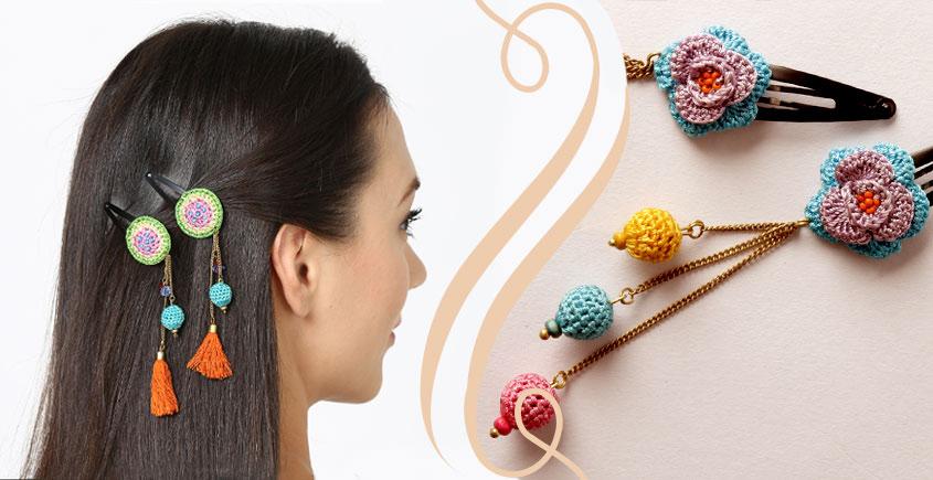 Samoolam ⚘ Crochet Accessories { Hairclip } ⚘ 4
