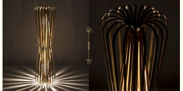 Infinity - Tall - Natural Lacquer ☙ Bamboo . Floor lamp - 6