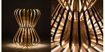 Infinity - Small - Natural Lacquer ☙ Bamboo . Floor lamp - 7