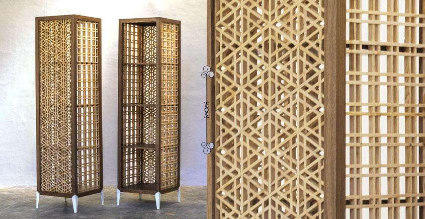 Buy Designer Kashmiri Pinjra Kari Minar Book Shelve By Sandeep