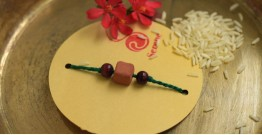 Terracotta ❂ Handmade . Rakhi { a }