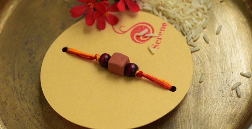 Terracotta ❂ Handmade . Rakhi { b }