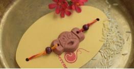 Terracotta ❂ Handmade . Rakhi { d }