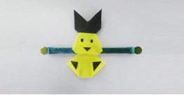 Paper Origami╶◉╴Rakhi { Yello Bunny}
