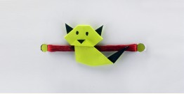 Paper Origami╶◉╴Rakhi { Green Cat }