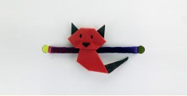 Paper Origami╶◉╴Rakhi { Red Cat }