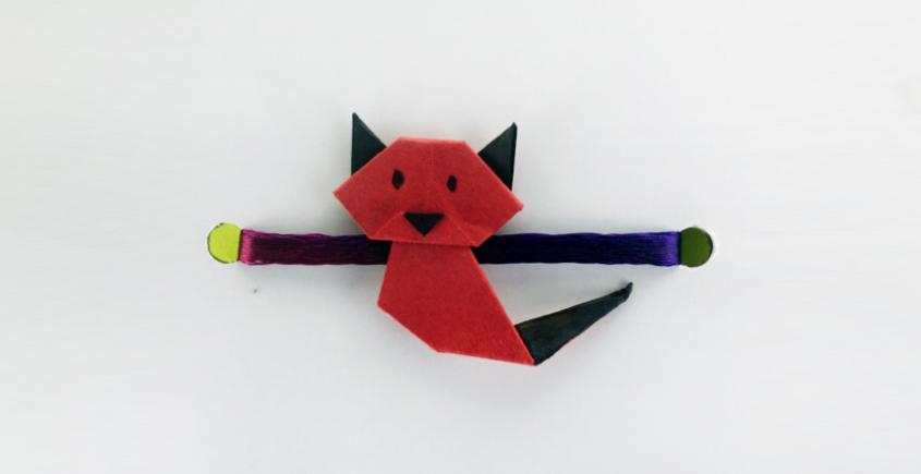 Paper Origami╶◉╴Rakhi { Red Cat }