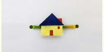 Paper Origami╶◉╴Rakhi { Yellow House - L }
