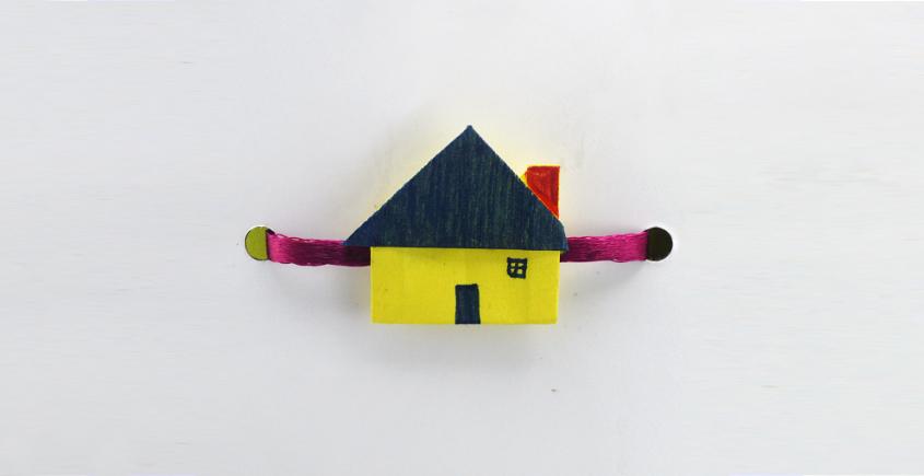 Paper Origami╶◉╴Rakhi { Yellow House - D }