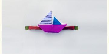 Paper Origami╶◉╴Rakhi { Pink Boat }