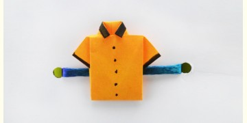 Paper Origami╶◉╴Rakhi { Orange Shirt }