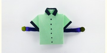Paper Origami╶◉╴Rakhi { Light Green Shirt }