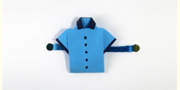 Paper Origami╶◉╴Rakhi { Blue Shirt }