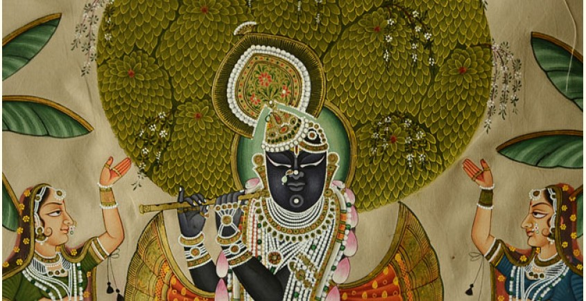 Krishna with Gopi  ( 35 X 24 inch )