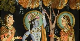 Sri Krishna with Radha  ( 35 X 50 inch )