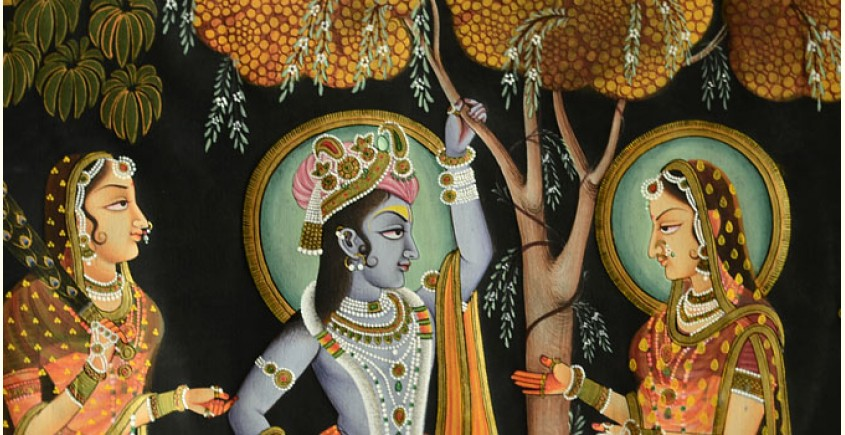 Pichwai Painting ~ Sri Krishna with Radha  ( 35 X 50 inch )