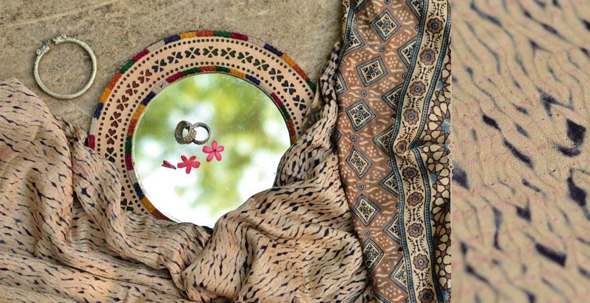 Ambily ★ Tie-Dye & Ajrakh ★ Gajji Silk Saree . 17