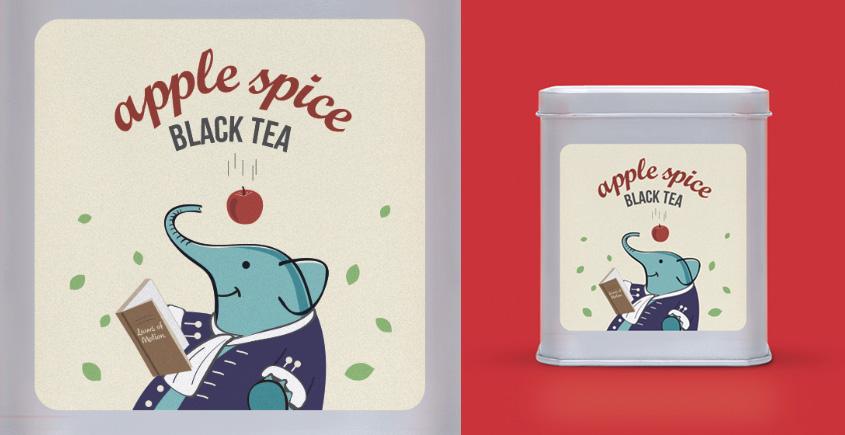 Apple Spice Black Tea ~ (100g  loose leaf OR 15 tea bags )