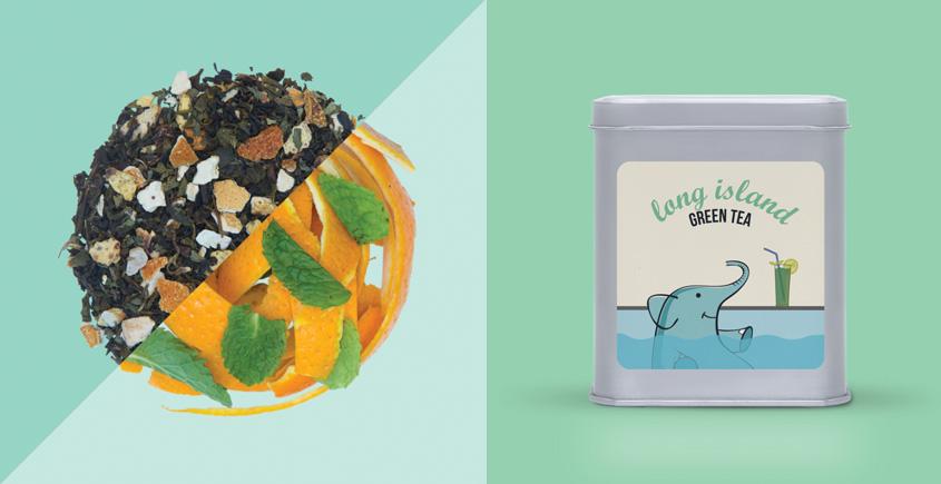 Long Island Green Tea ~ ( Organic . 15 tea bags )
