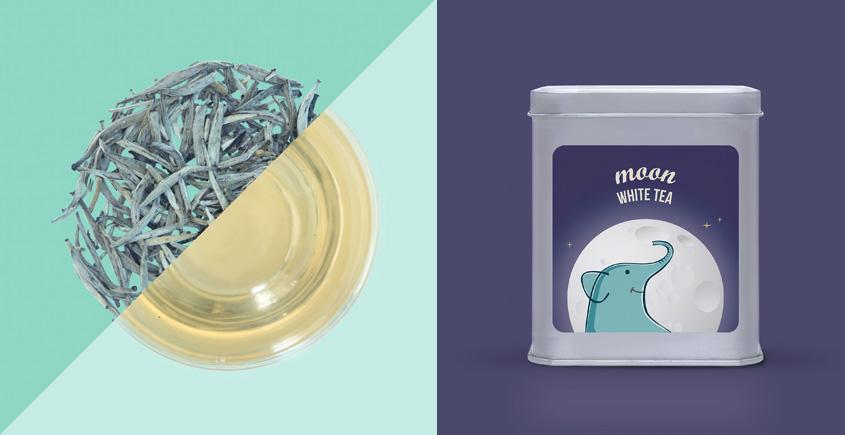 Moon White Tea ~ ( Organic . 15 tea bags )