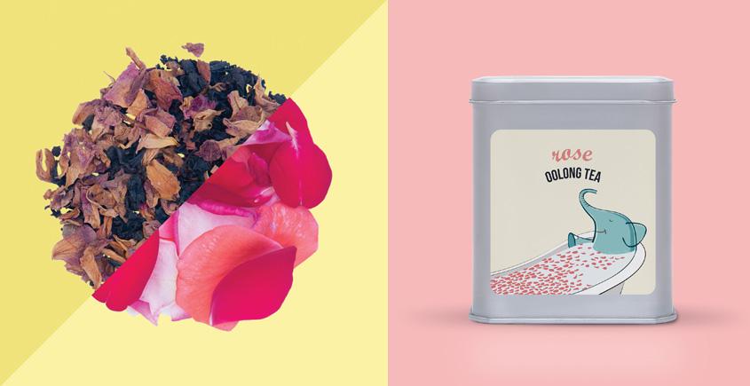 Rose Oolong Tea  ~ ( Organic . 15 tea bags )