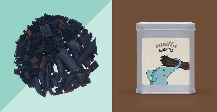 Vanilla Black Tea ~ ( Natural . 15 tea bags )