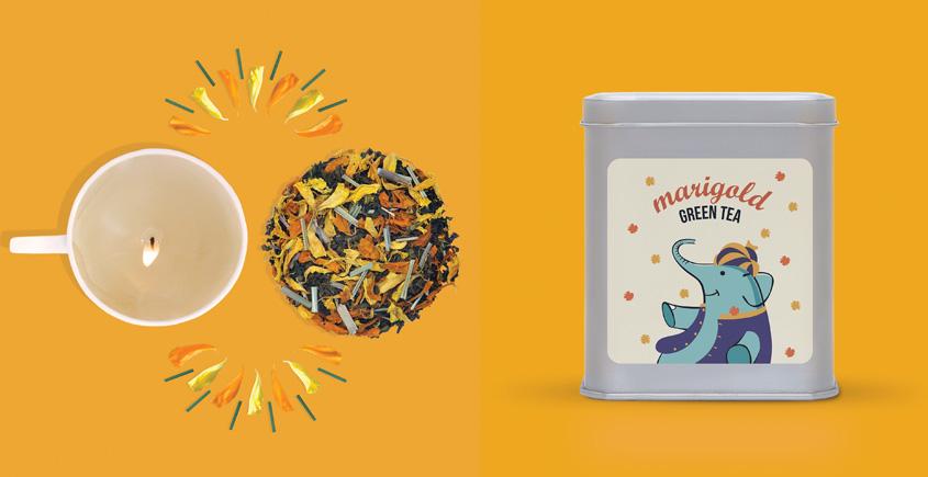 Festive Tea Hamper ~  { 15 tea bags and a Cup Candel }