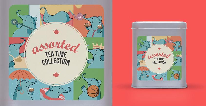 Assorted Tin ~ ( 15 tea bags )