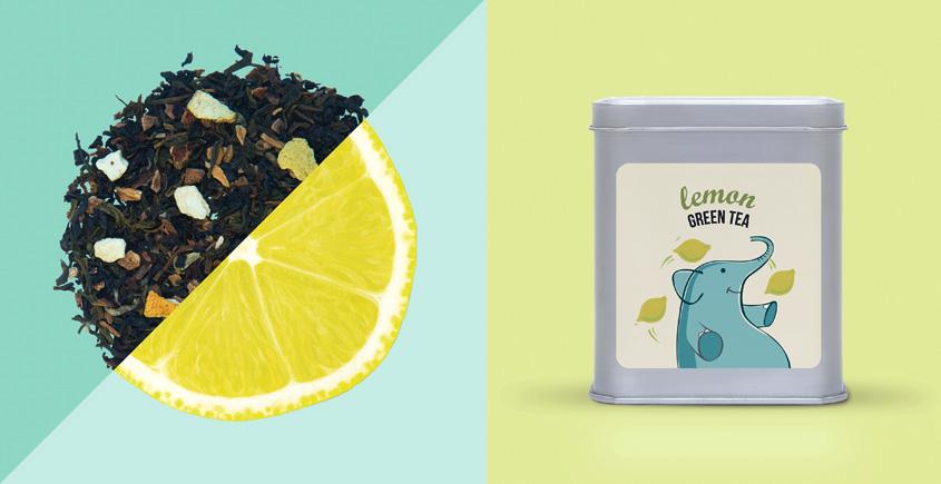 Lemon Green Tea ~ (  Organic . 15 tea bags )