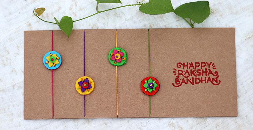 Small Floral Bead Rakhi ✺ B