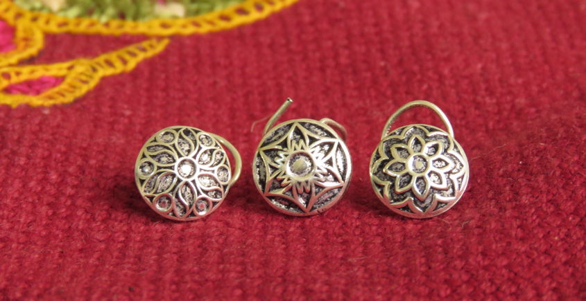 Nose ring silver { set of 3 } ~ 6
