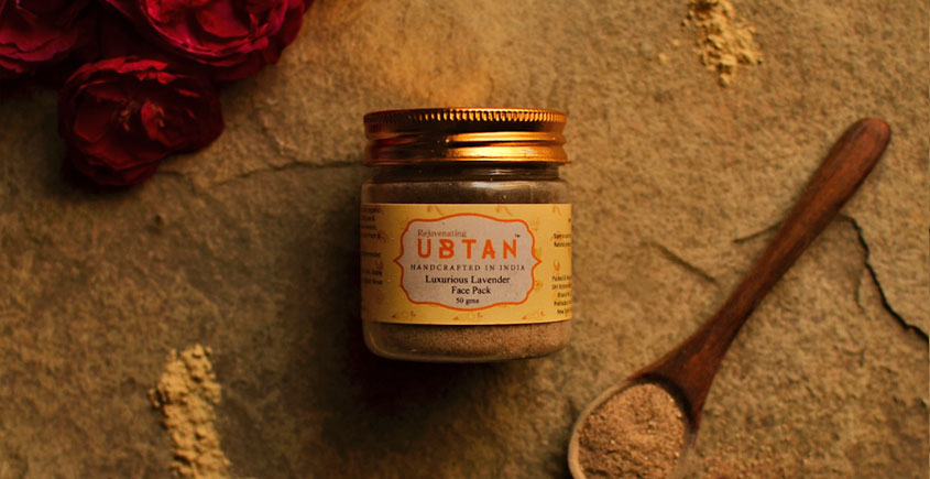 Ubtan ☘ Face Pack - Luxurious Lavender Face Pack ☘ 8 { 50gm }
