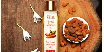 Ubtan ☘ Cold Pressed Sweet Almond Oil ☘ 11 { 50ml/200ml }