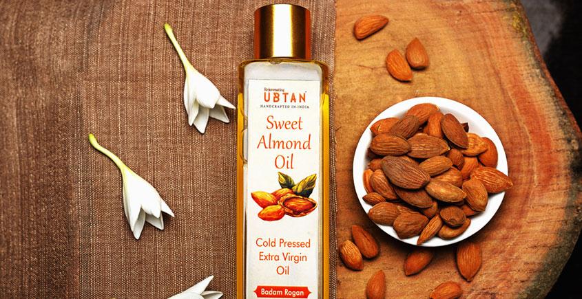 Ubtan ☘ Cold Pressed Sweet Almond Oil ☘ 11 { 50ml/200ml }