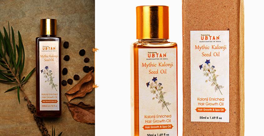 Ubtan ☘ Mythic Kalonji Seed Oil - Hair Growth & Spa Oil ☘ 12 { 50ml/200ml }