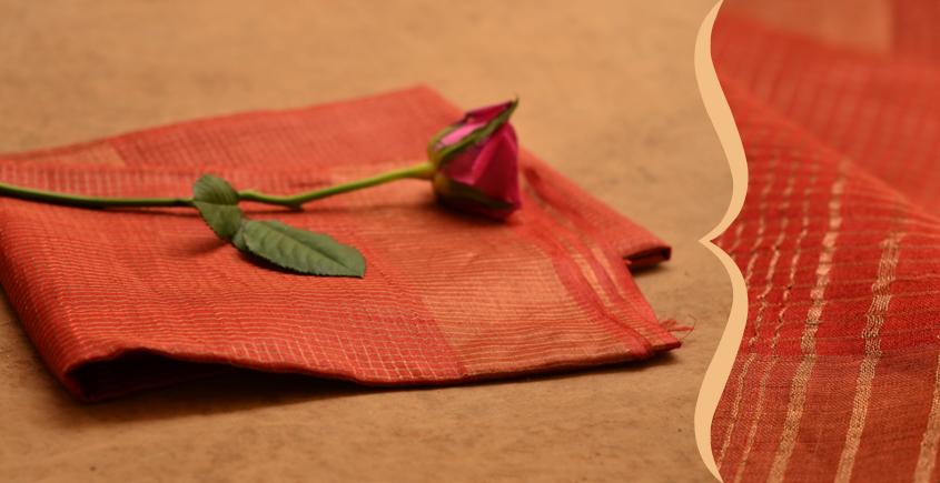 Handwoven Pure Silk Dupatta ⚹ K