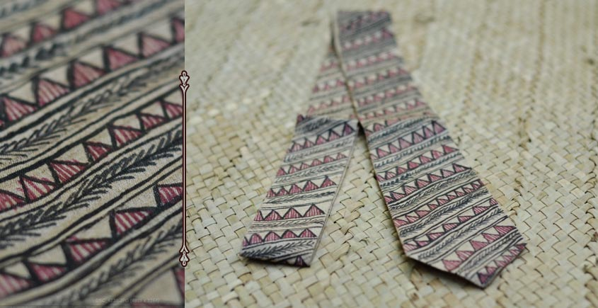 Madhuban ❁ Madhubani Tussar Silk Tie ❁ 16 ❁