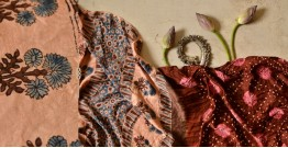 मृणालिनी ☘ Gajji Silk ☘ Ajrakh Bandhani Saree ~ 9